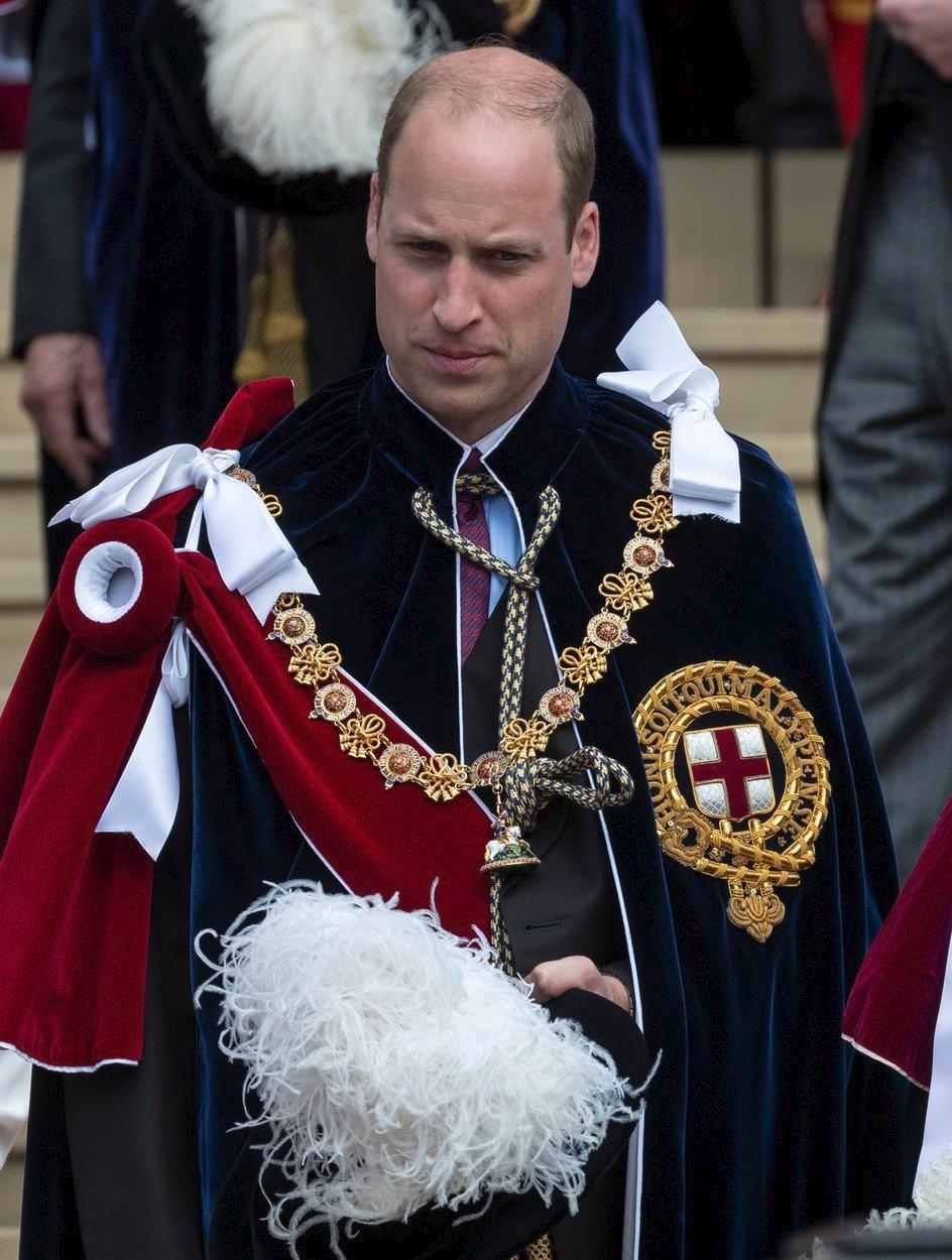 William na ceremoniálu rytířů Podvazkového řádu.