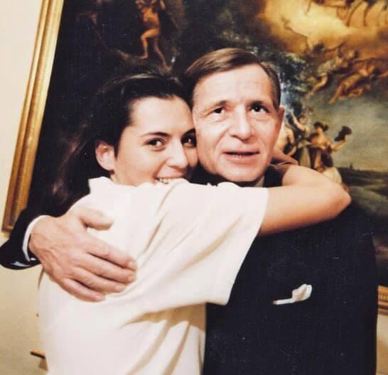 Barbora Kodetová s otcem.