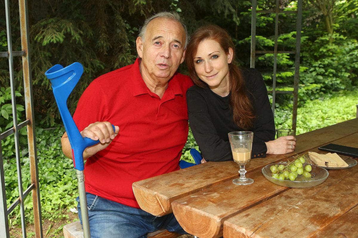 Ivan Vyskočil s partnerkou Romanou