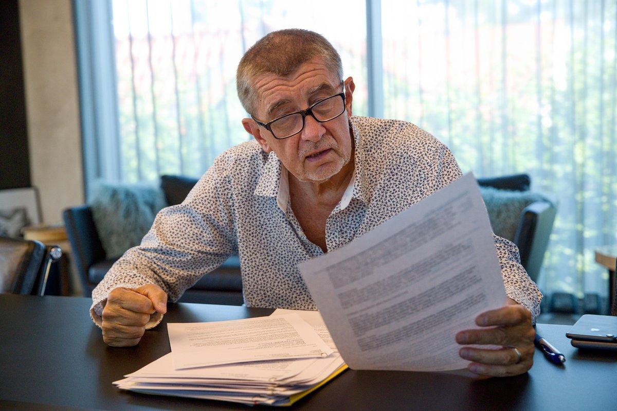 Premiér Andrej Babiš při rozhovoru pro Blesk (29. června 2019)