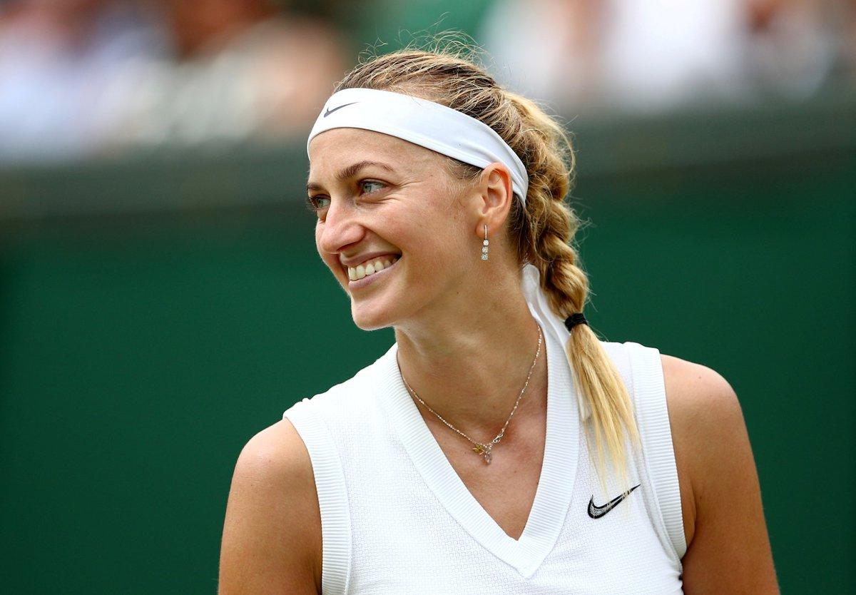 Rozesmátá Petra Kvitová po postupu do osmifinále Wimbledonu