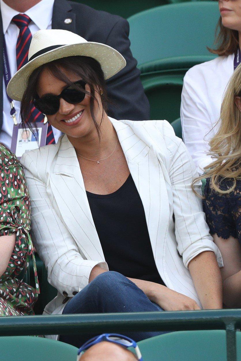 Vévodkyně Meghan na Wimbledonu