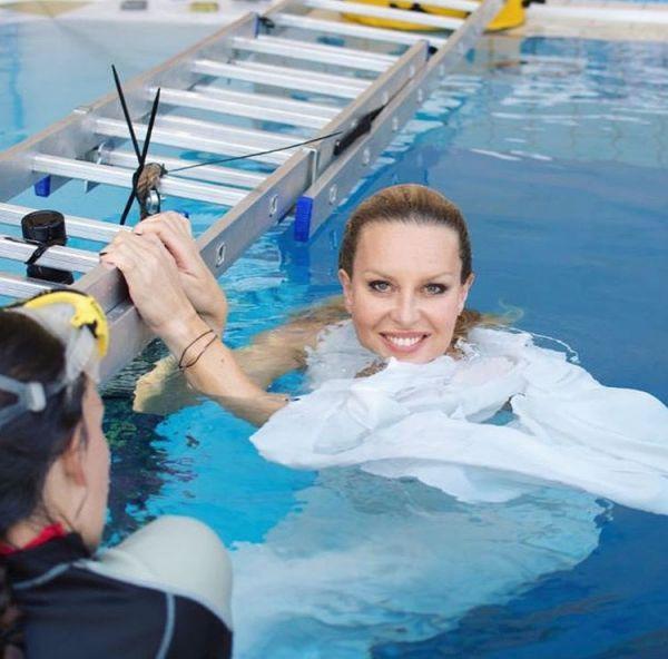Potápěčka ji učila, jak správně dýchat.