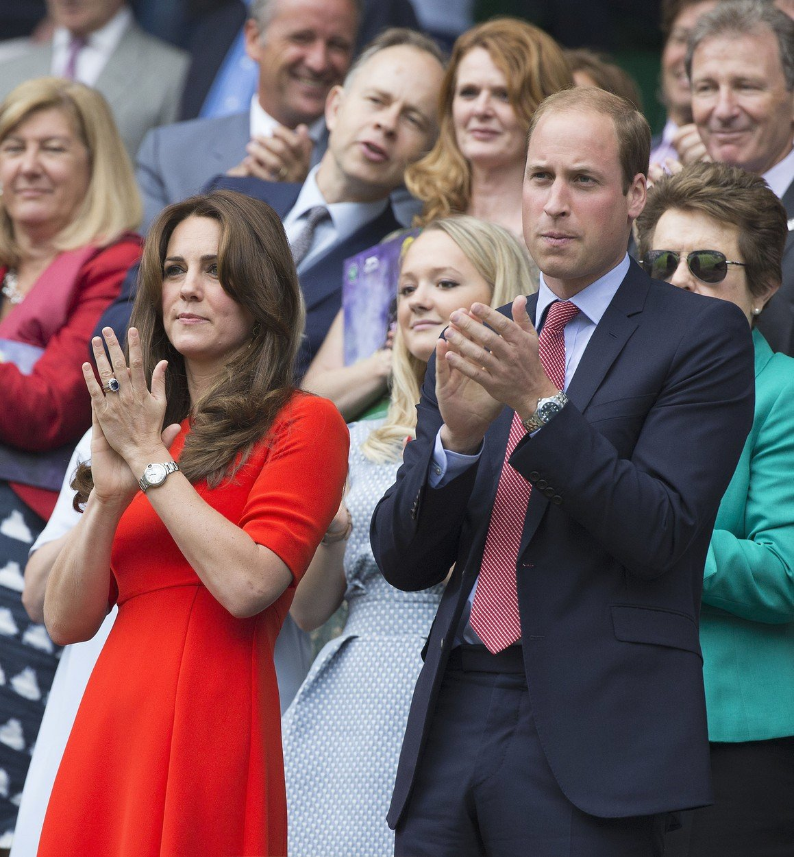 Kate a William na Wimbledonu
