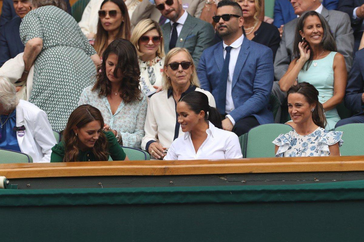 Vévodkyně Kate, vévodkyně Meghan a Pippa na Wimbledonu