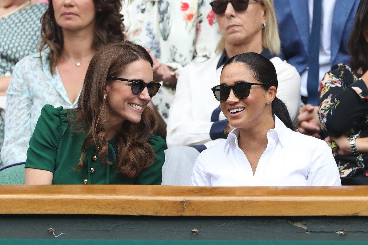 Meghan a Kate na finále letošního Wimbledonu