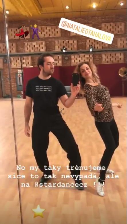 Matouš Ruml a Natálie Otáhalová se při tréninku nenudí
