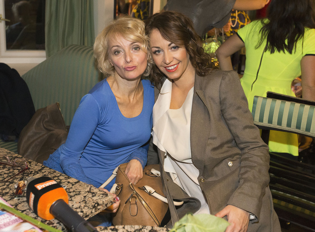 Agáta s maminkou herečkou Veronikou Žilkovou