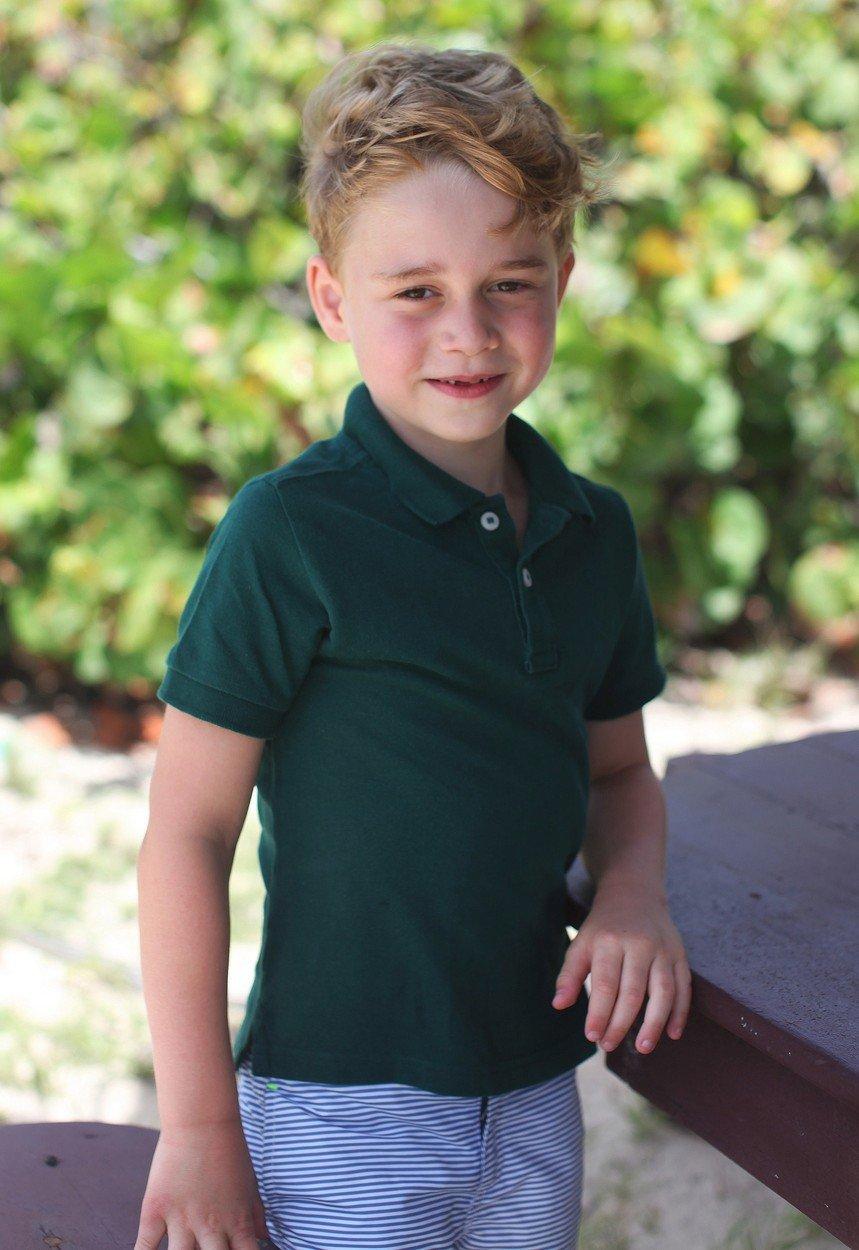 Nejnovější portrét prince George k jeho šestým narozeninám
