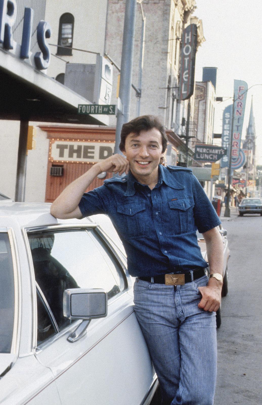 Na Nashvillu vystoupil Gott hned několikrát. Tento snímek je ze září 1979.