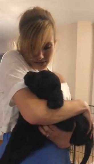 Gabriela Koukalová a její psí miláček Carlla