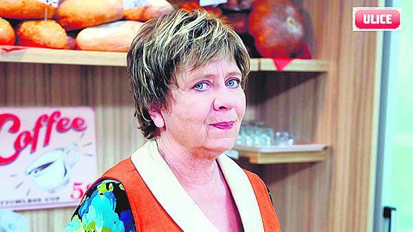 Jako pekařka Nyklová v seriálu Ulice.