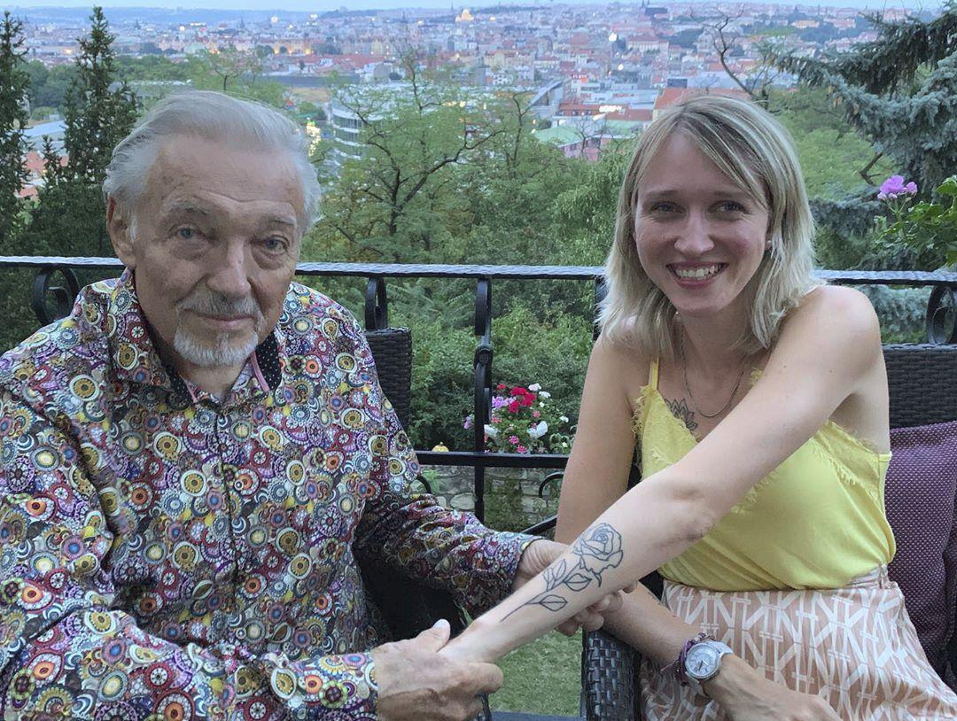 Karel Gott s dcerou Lucií.