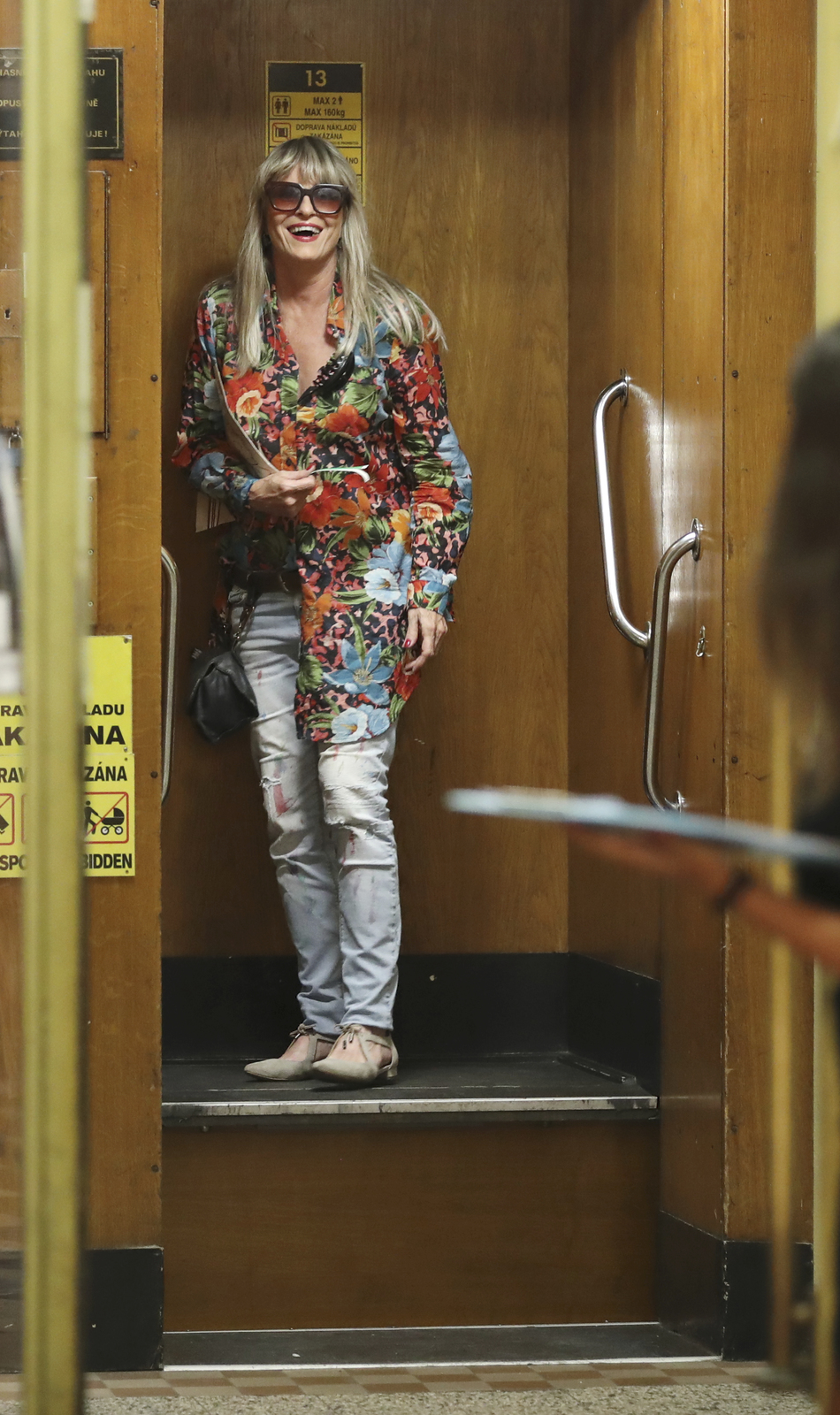 Exmanželka Bolka Polívky Chantal Poullainová brala jízdu výtahem s úsměvem
