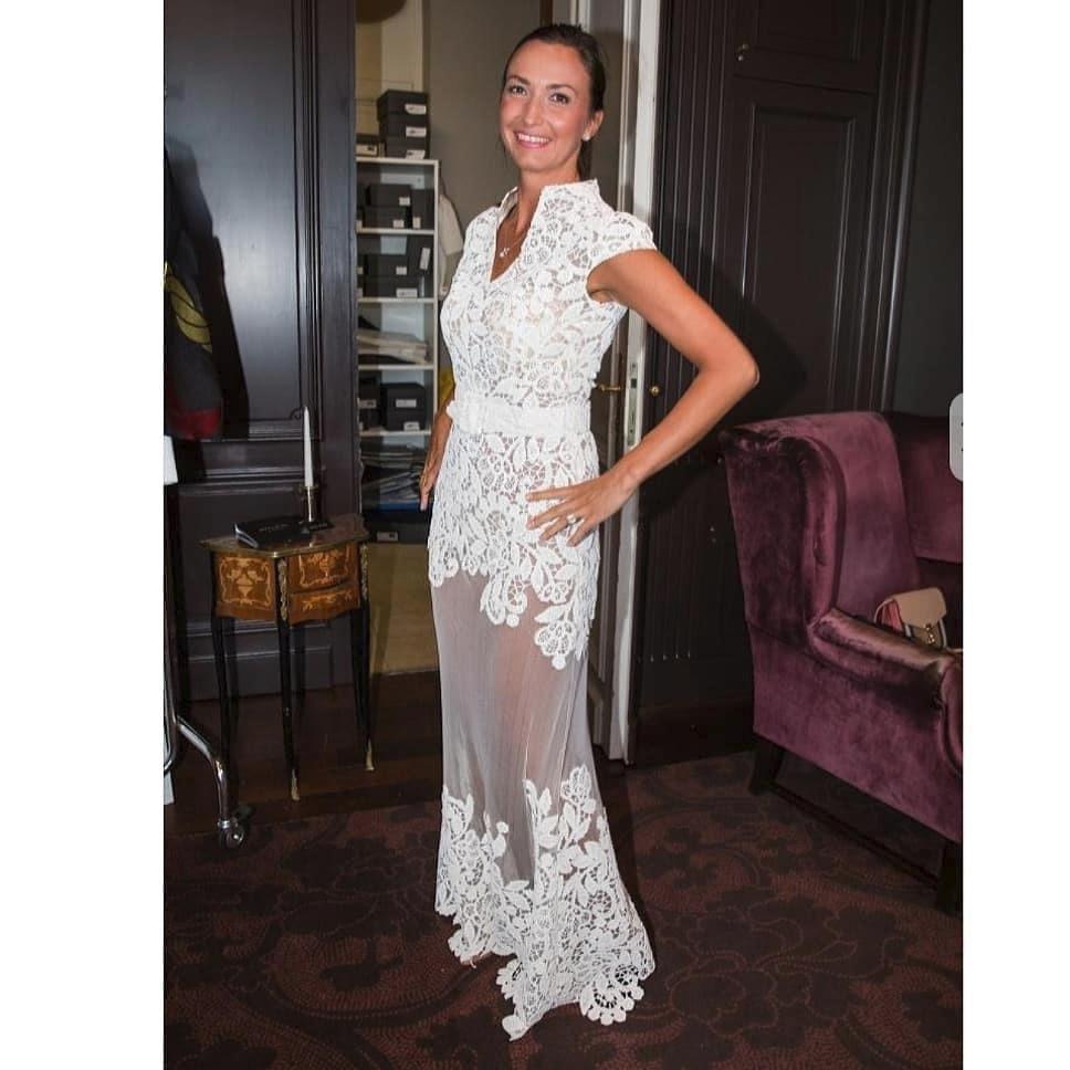 Lucie Gelemová si zkoušela svatební šaty