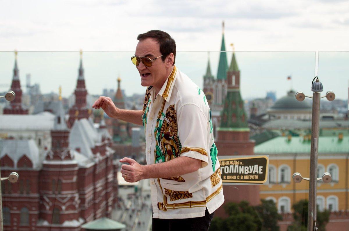 Quentin Tarantino na cestách s propagací svého nového filmu, zde v Moskvě