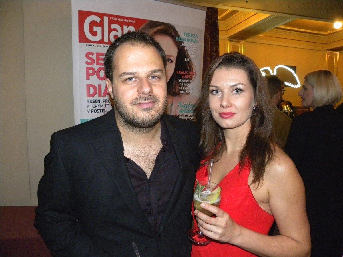 Xindl X s manželkou Monikou