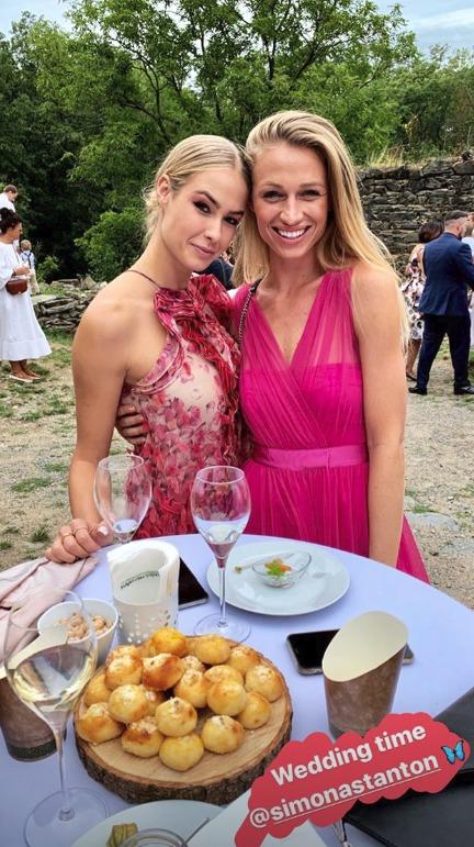 Modelka Veronika Kašáková na svatbě Libora Boučka