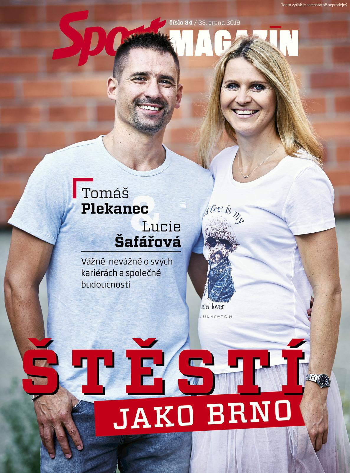 Tomáš Plekanec a Lucie Šafářová na titulní straně Sport Magazínu