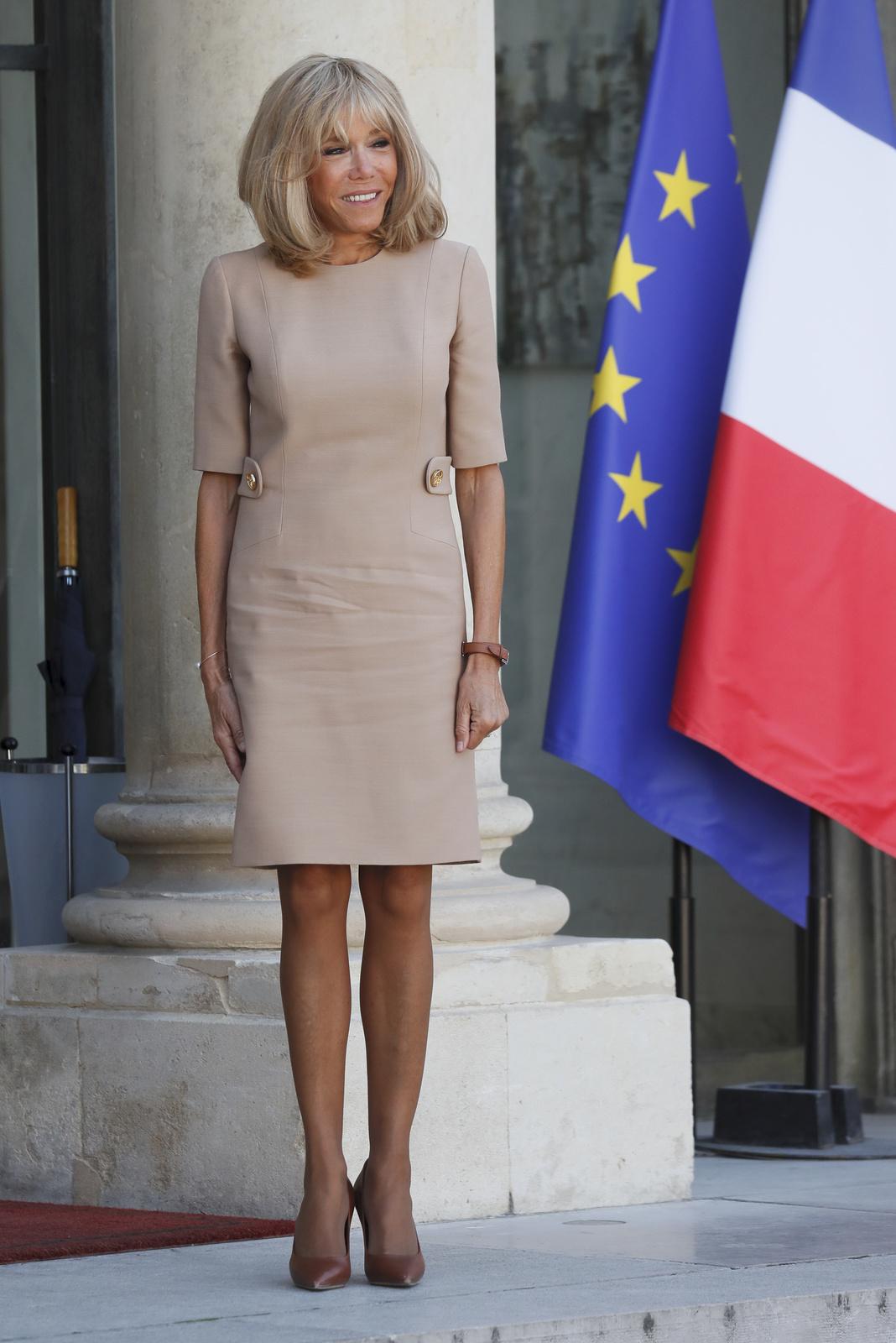 První dáma Francie Brigitte Macronová.