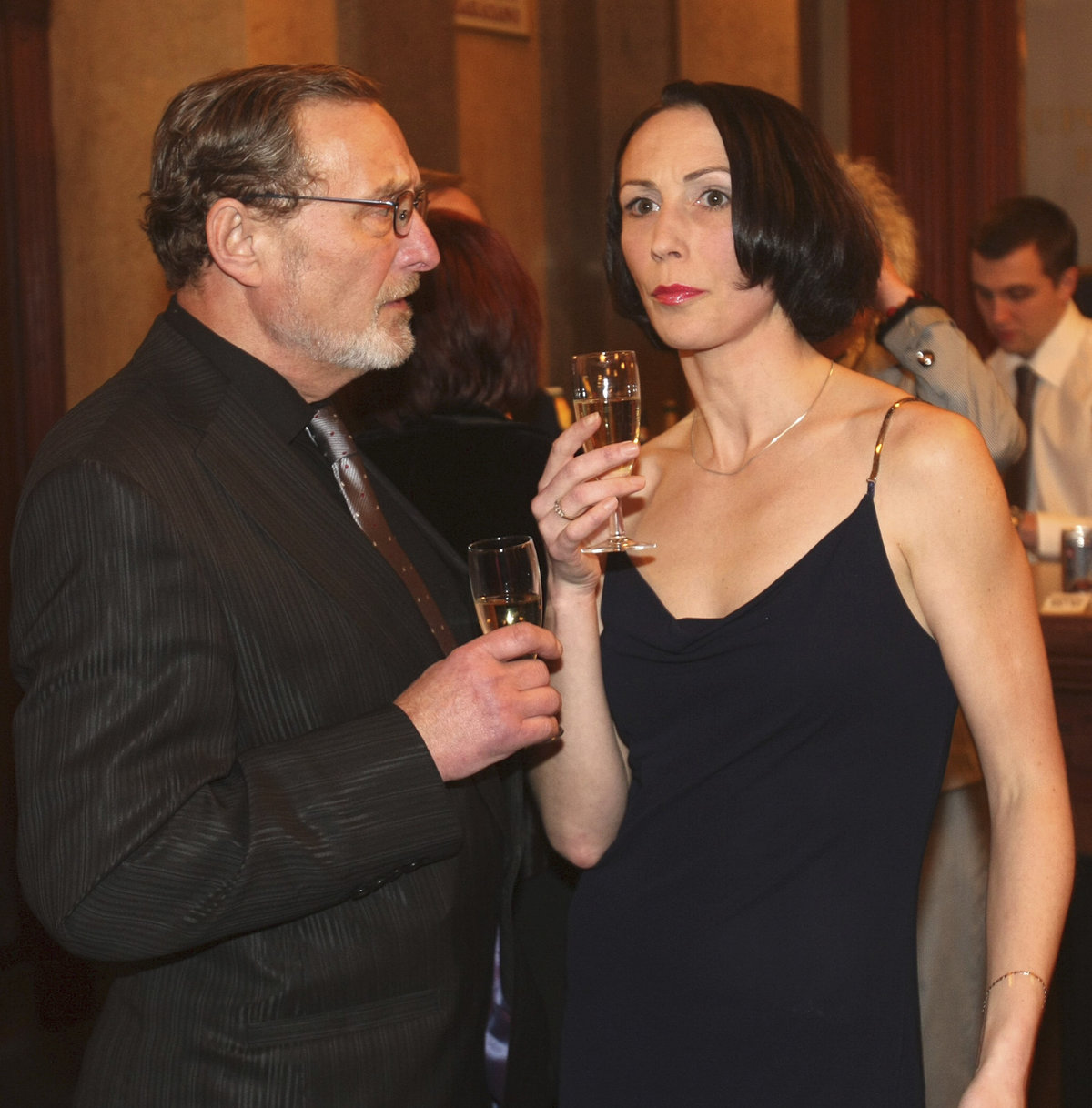Ladislav Frej s dcerou Kristýnou, která je také herečka