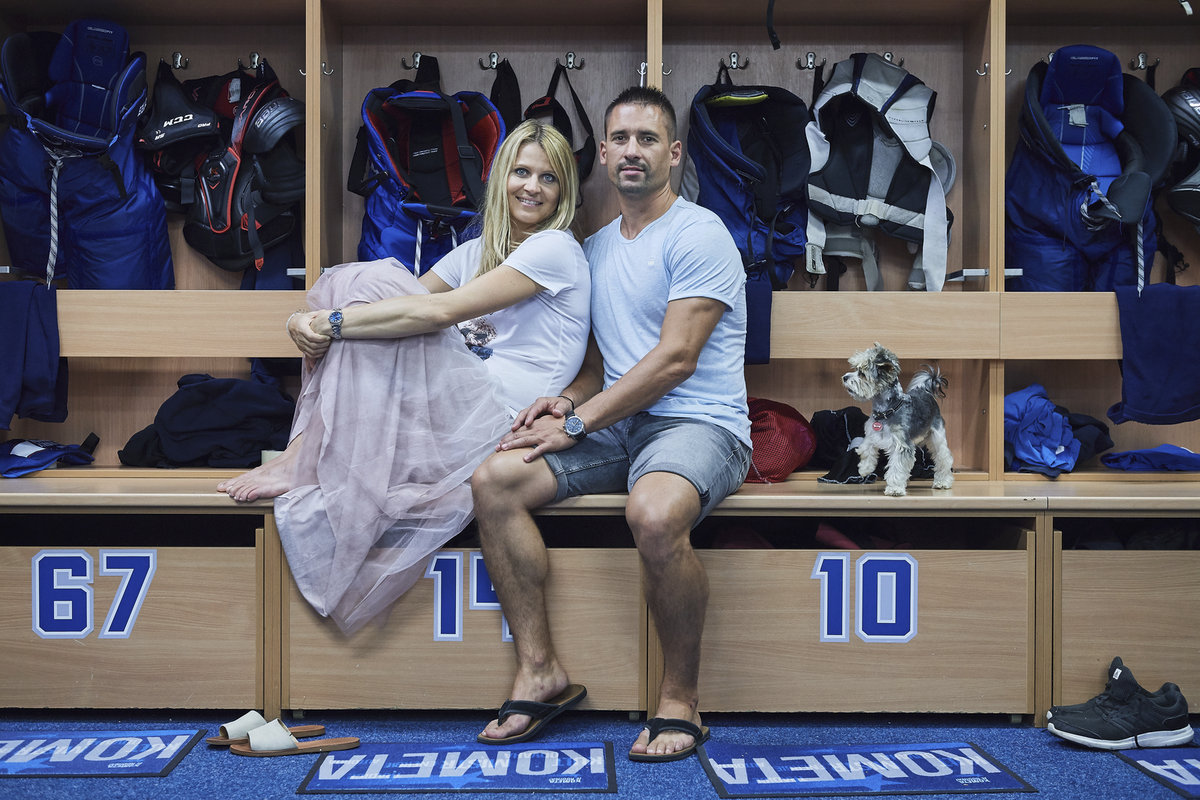 Tomáš Plekanec s Lucií Šafářovou