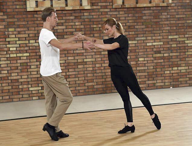 Gabriela Koukalová se podělila s momentkami z tréninku na StarDance s Martinem Prágrem