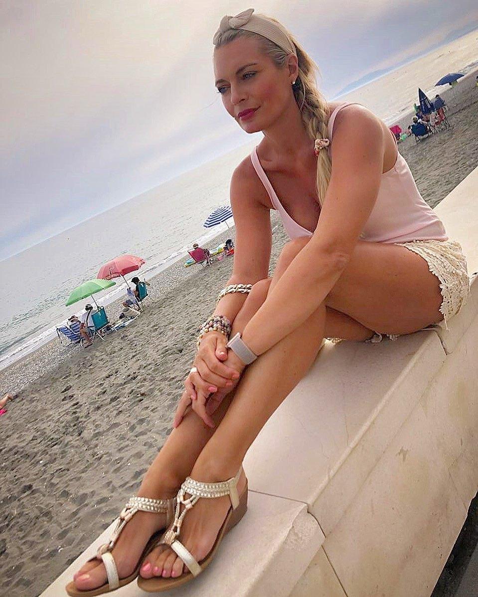 Lucie Borhyová na dovolené v Řecku