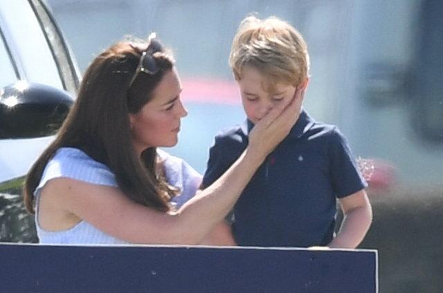 Kate s nejstarším synem Georgem.