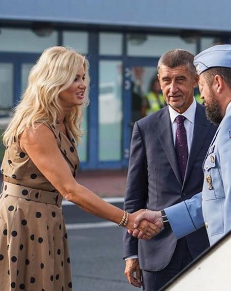 Andreje Babiše do Turecka doprovodila i jeho manželka Monika (2.9.2019)