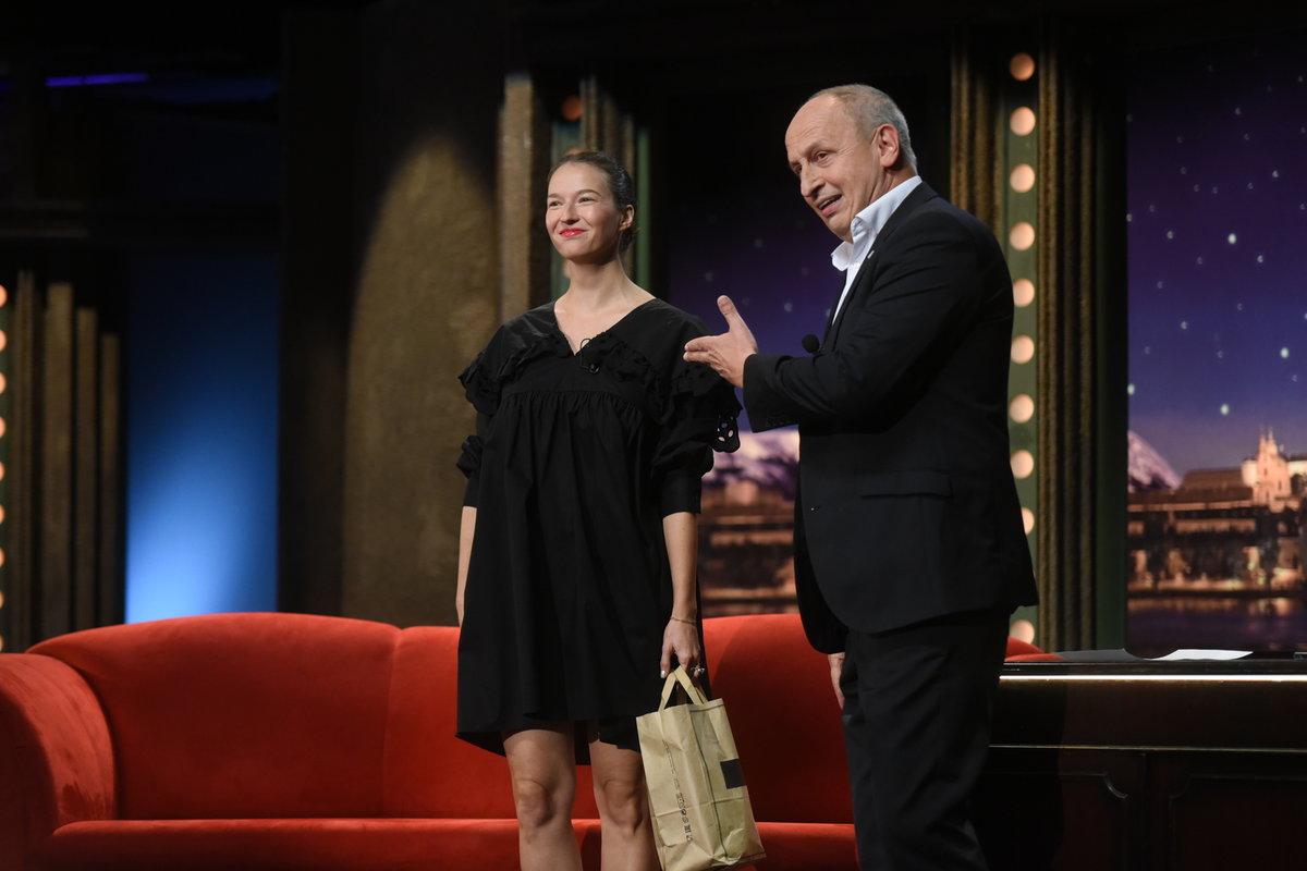 Těhotná Berenika Kohoutová v Show Jana Krause