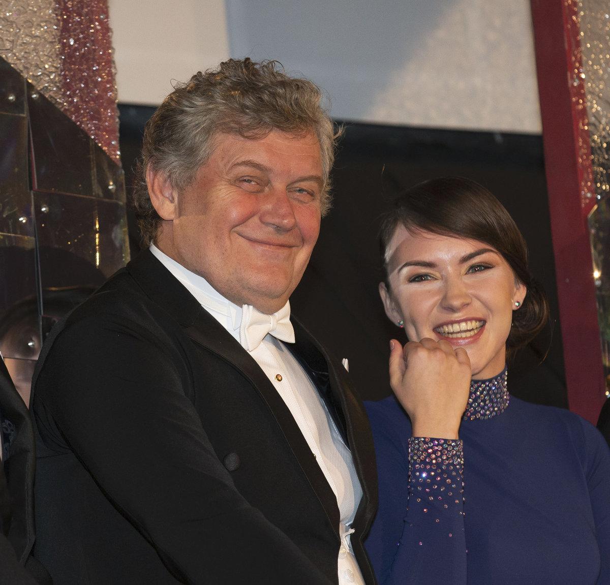 Miroslav Hanuš s tanečnicí Adrianou Maškovou