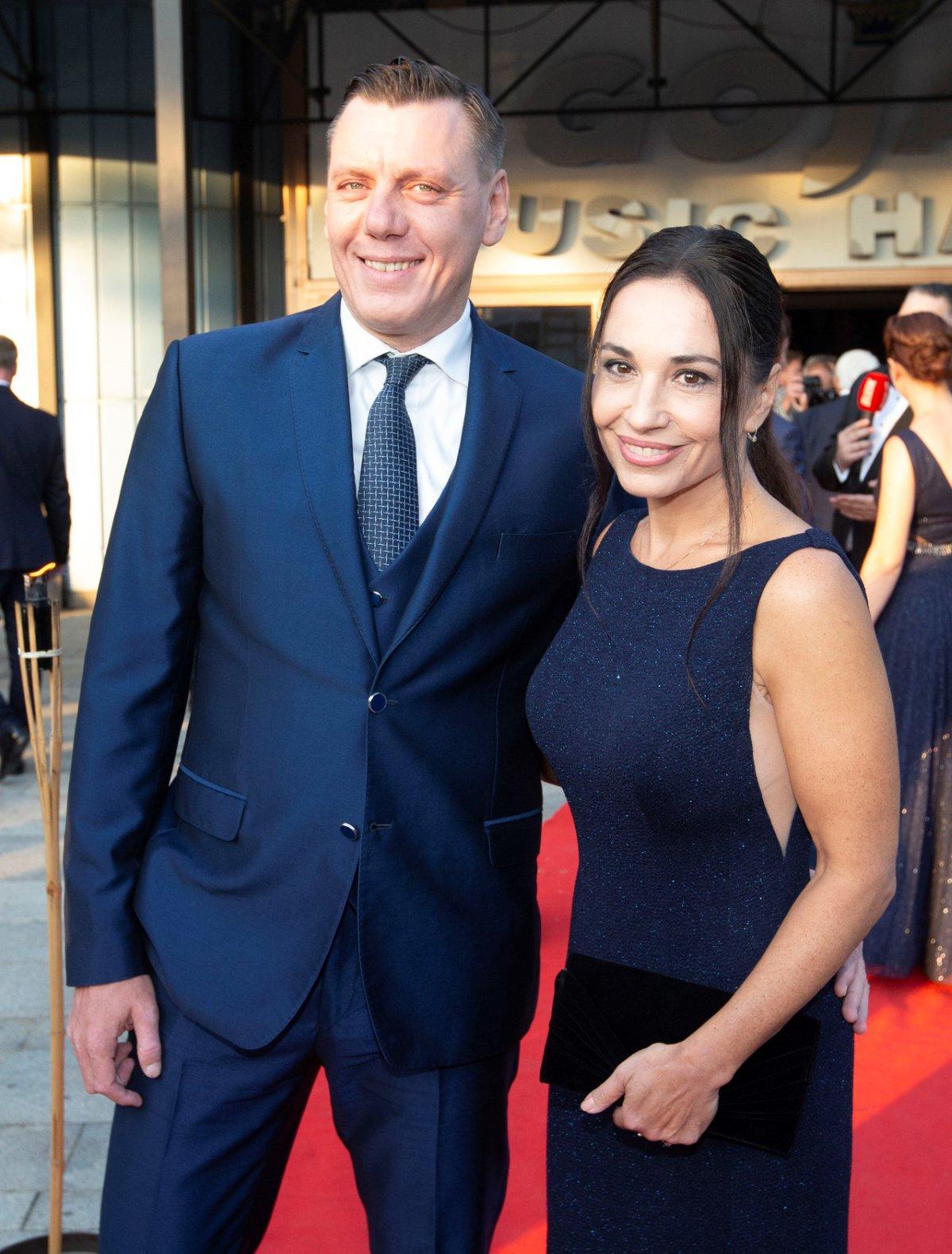 Premiéra muzikálu Čarodějka: Michaela Kuklová s přítelem