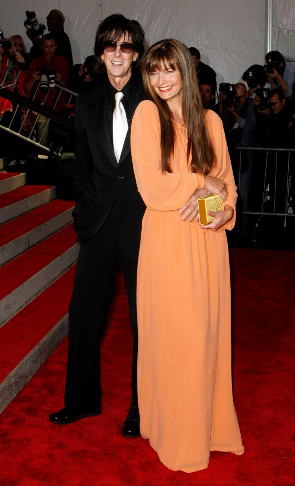 Americký zpěvák Ric Ocasek s exmanželkou Paulinou Pořízkovou.