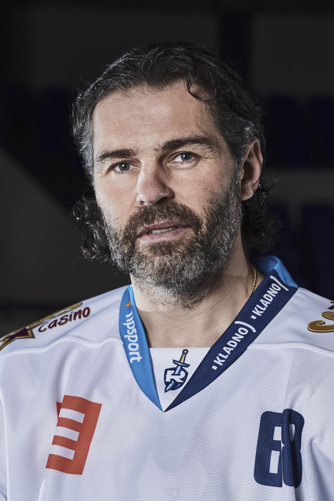 Jaromír Jágr během exkluzivního focení pro Sport Magazín.