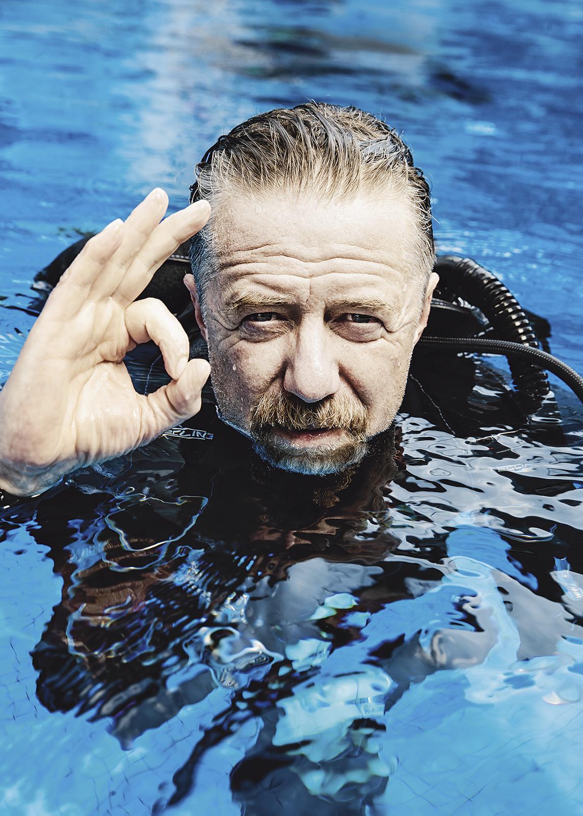 Populární herec Jiří Langmajer se při potápění naučil být sám se sebou