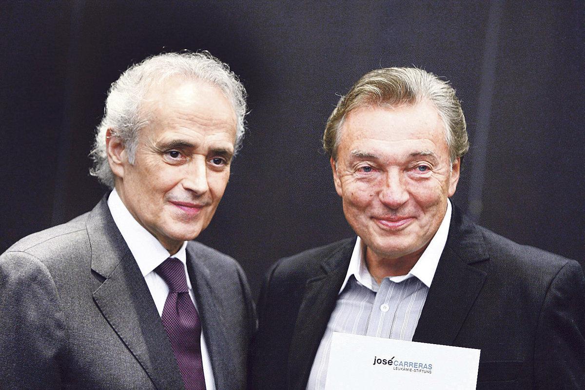 Gott s Carrerasem v roce 2010, kdy se stal vyslancem jeho nadace