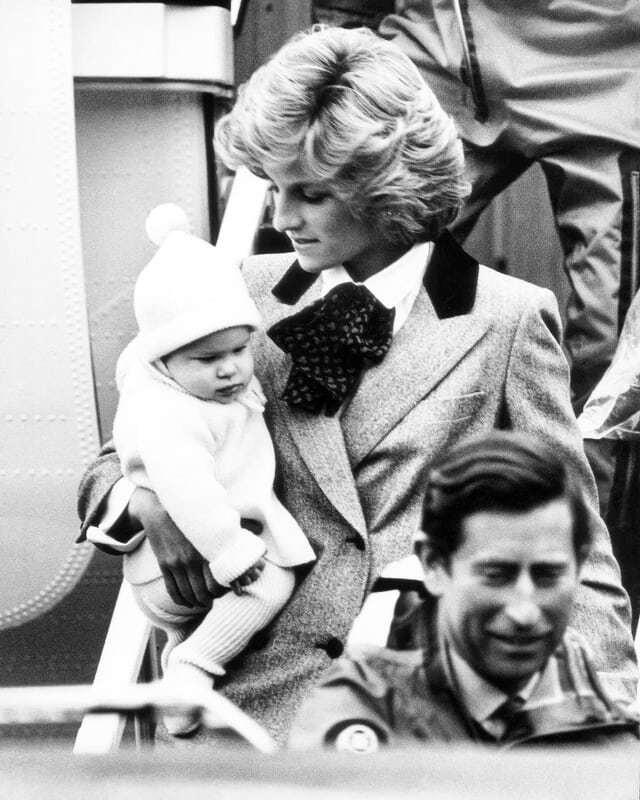 Princezna Diana s malým Harrym