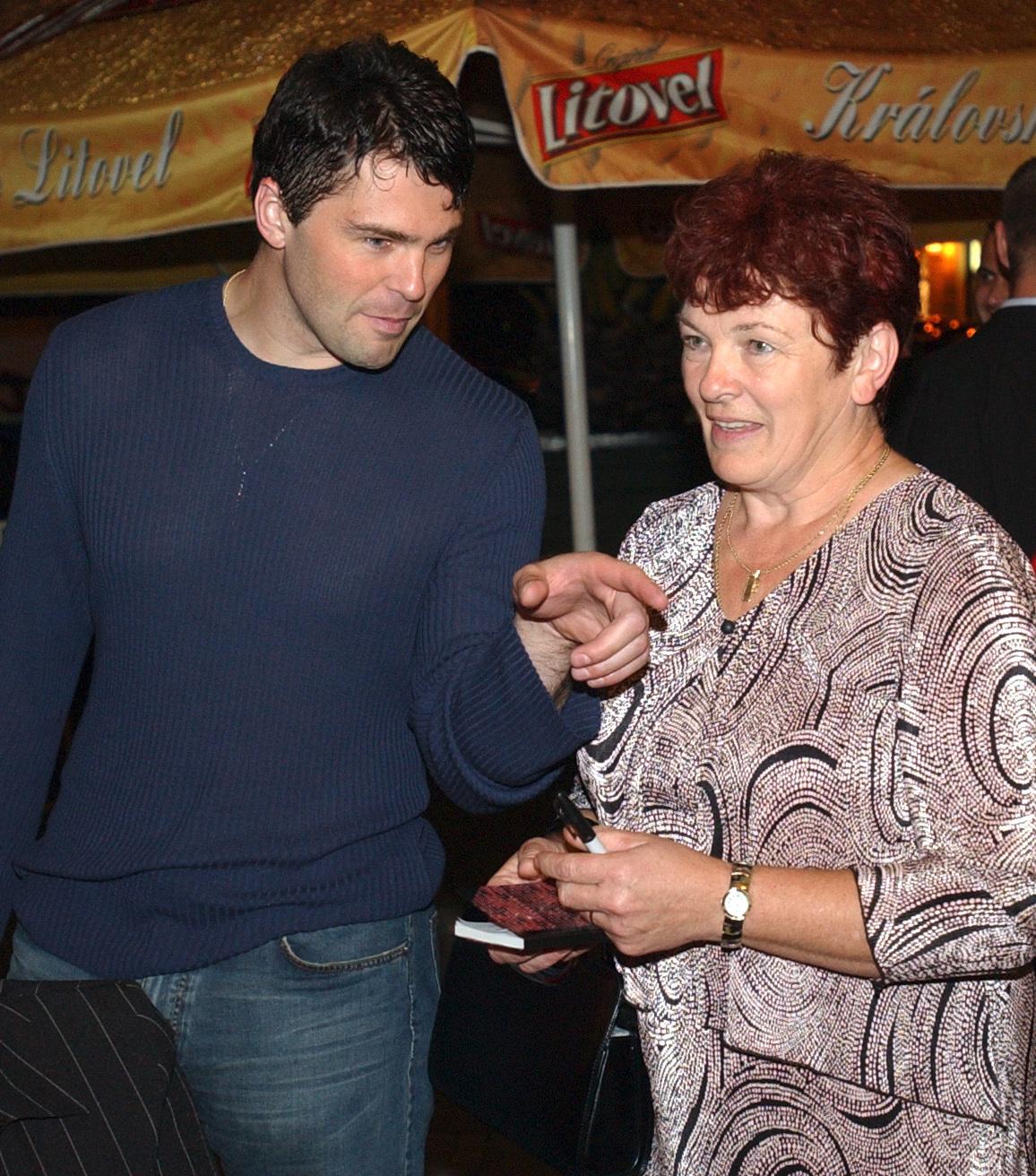 Jaromír Jágr s maminkou Annou