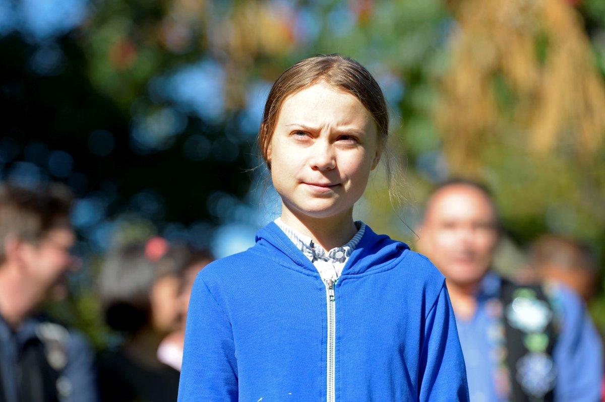 Greta Thunbergová v Kanadě.