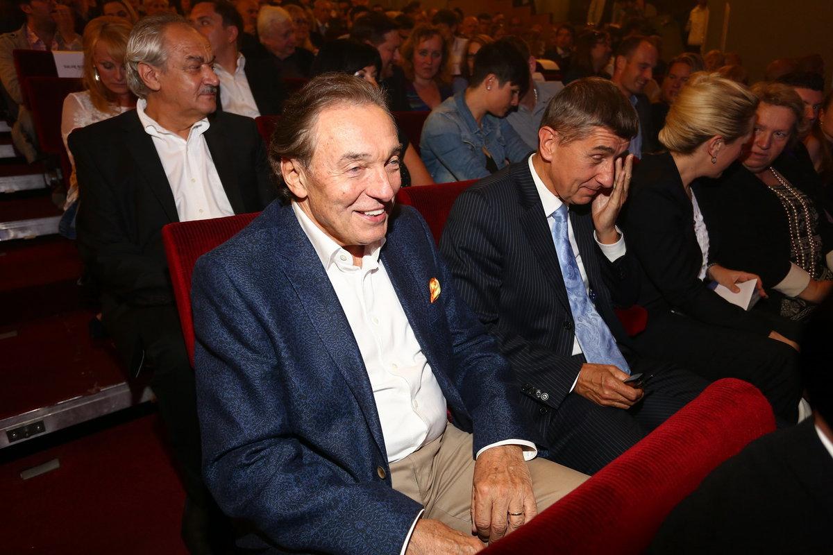 Andrej Babiš a Karel Gott v roce 2013