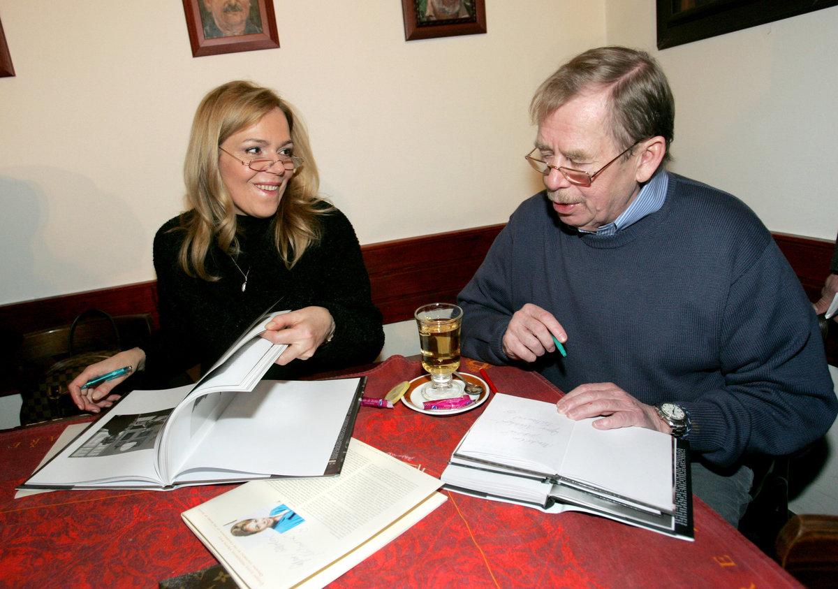 Václav Havel s manželkou Dagmar Havlovou