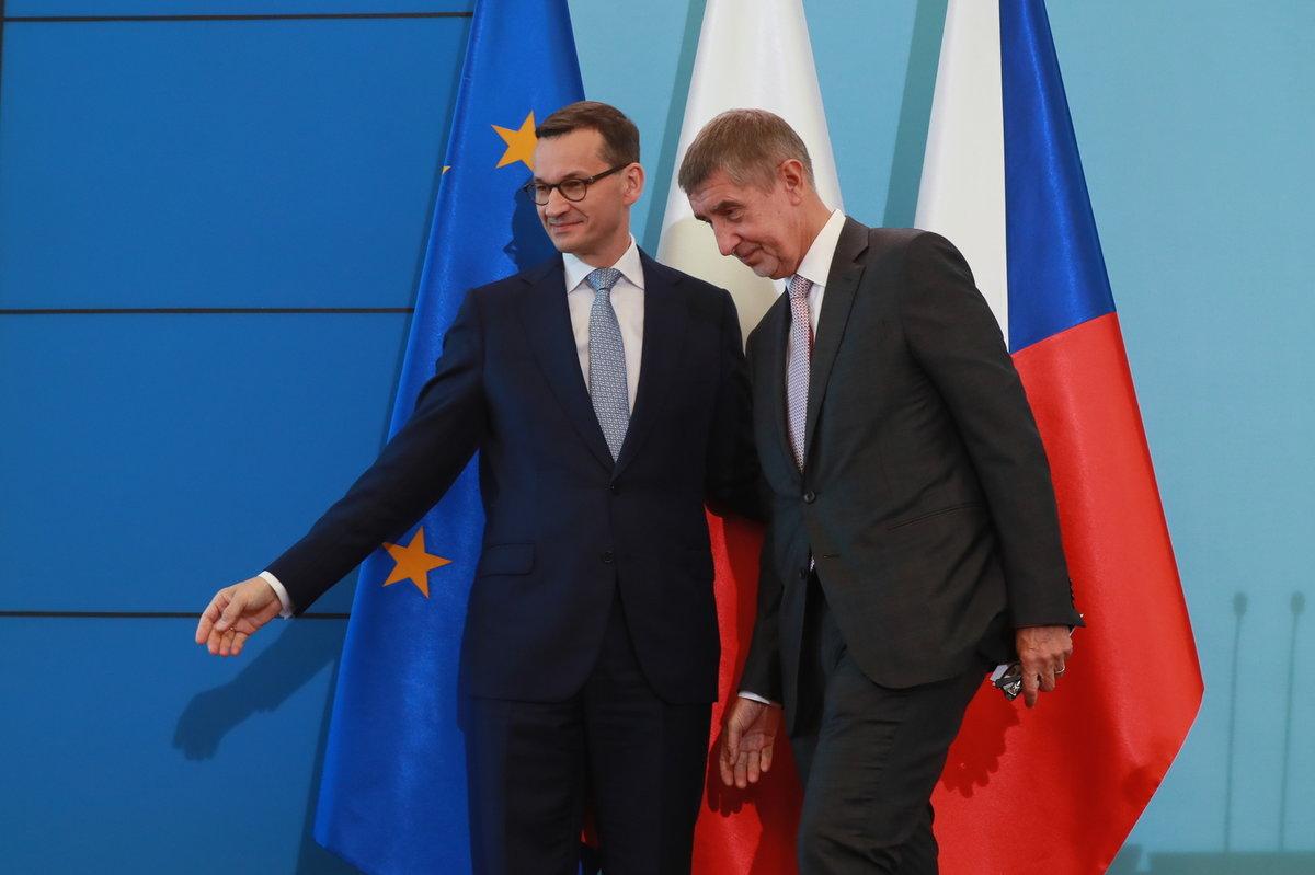 Český premiér Andrej Babiš na návštěvě Polska s premiérem Mateuszem Morawieckim