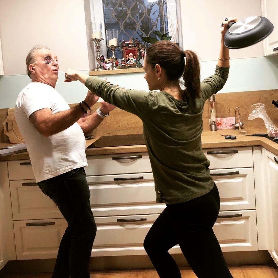 Petr Janda s manželkou Alicí si dělají udělali legraci z domácího násilí