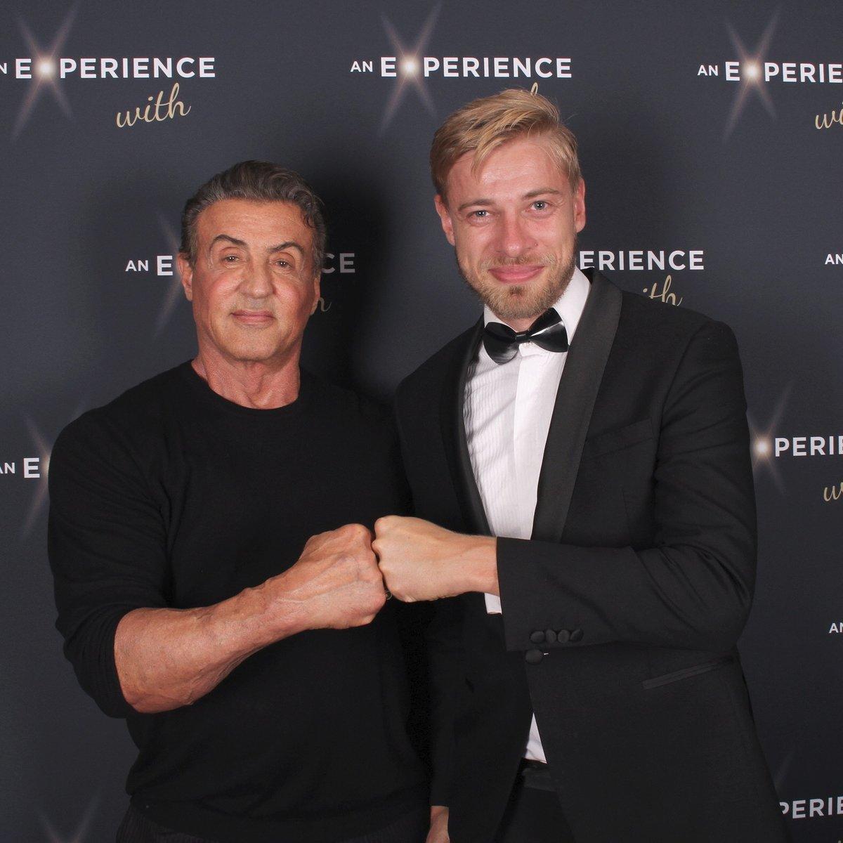 Petr Větrovský se setkal se svým idolem z dětství Sylvestrem Stallonem.