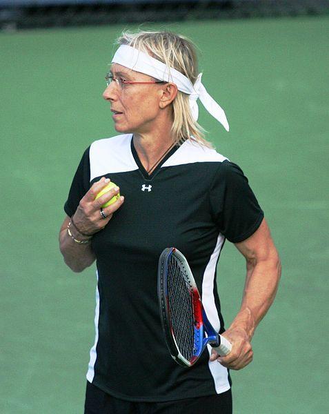 Martina Navrátilová na US Open 2010