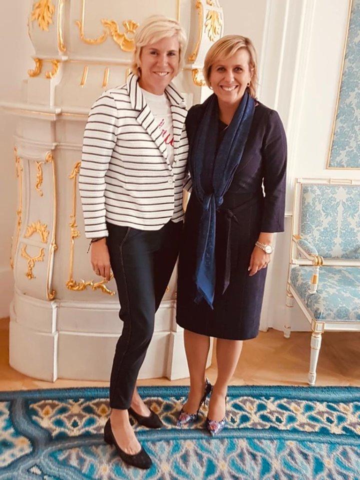 S Kateřinou Neumannovou - prezidentkou asociace horských středisek