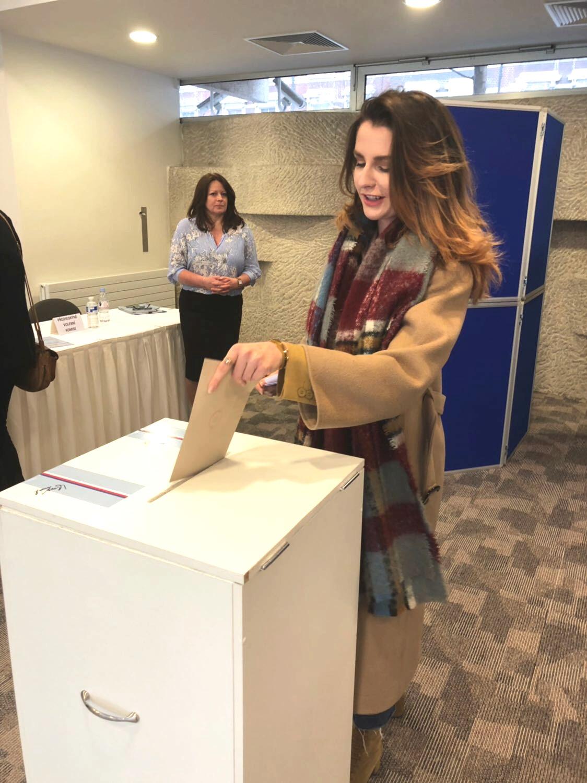 Kateřina Zemanová na volbách v roce 2018