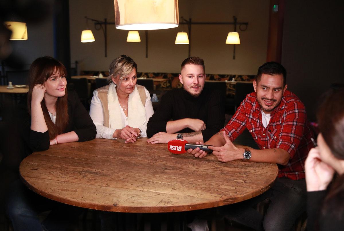 Kateřina, Rita, Rodrigo a Tomáš během rozhovoru pro Blesk Zprávy