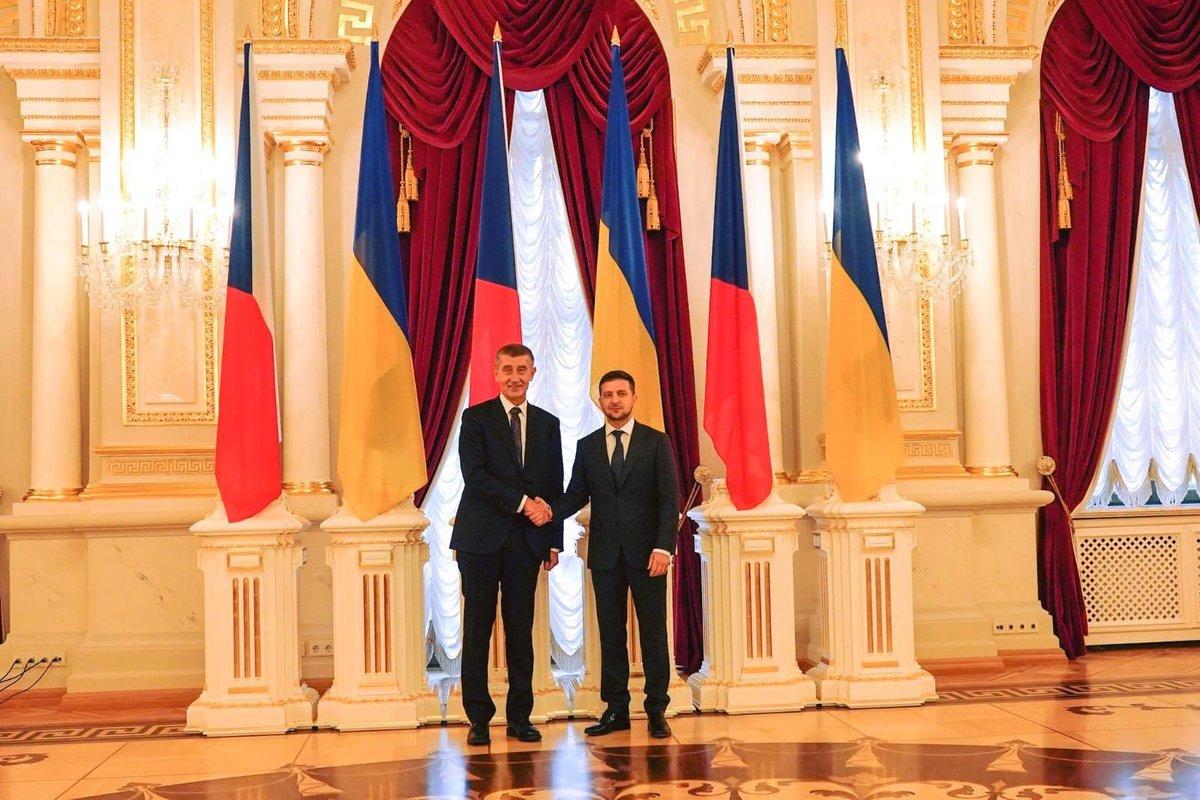 Andrej Babiš s prezidentem Volodymyrem Zelenským